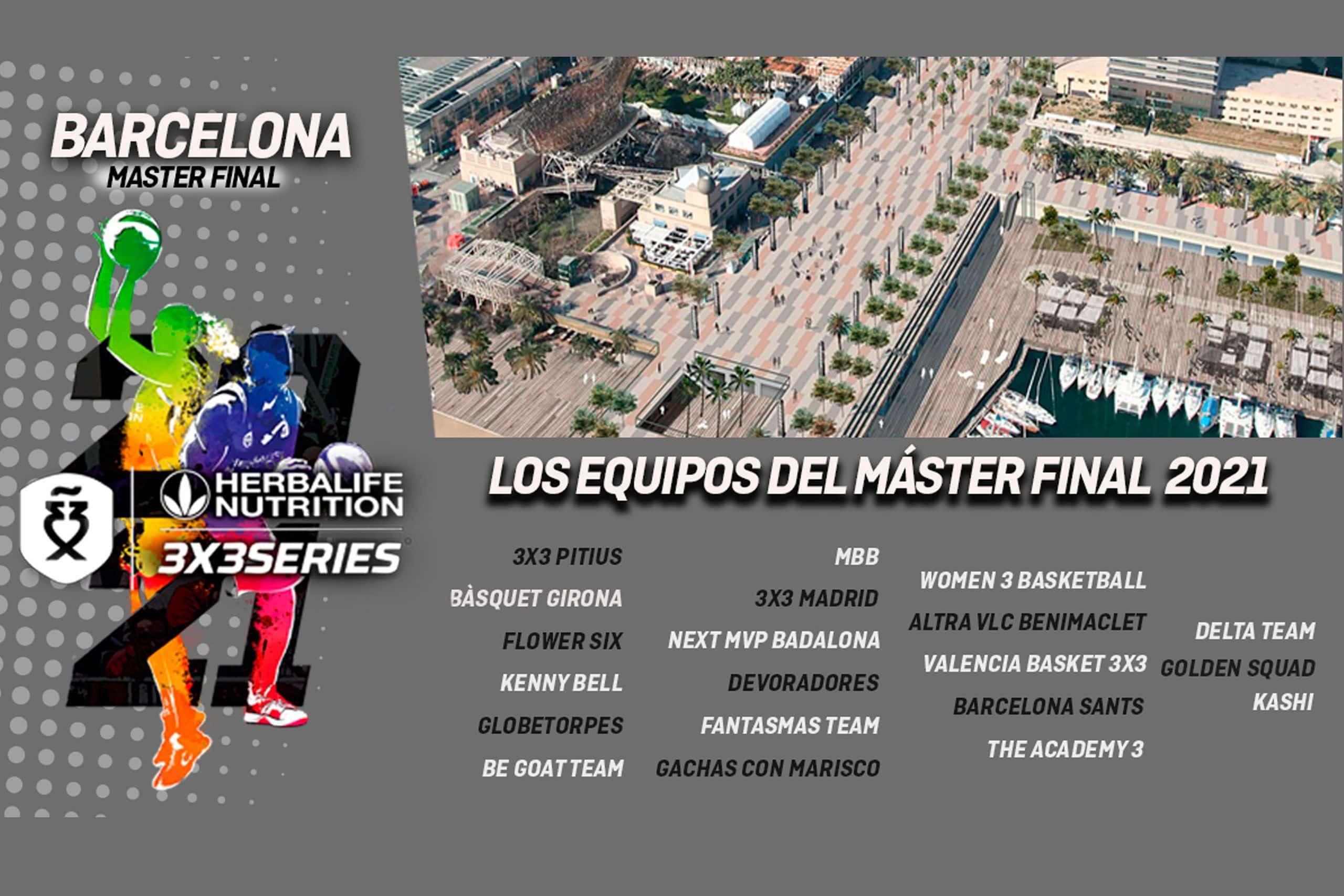 Equipos master final barcelona 3x3 madison